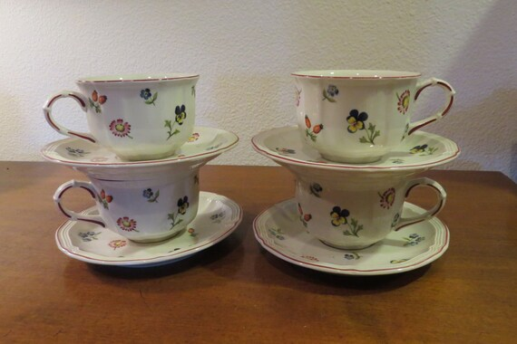 villeroy boch petite fleur luxembourg germany cup and saucer. Black Bedroom Furniture Sets. Home Design Ideas