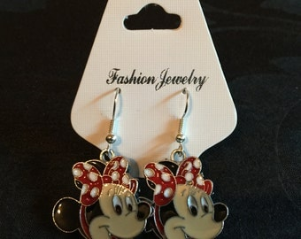 Silver Plated Disney Minnie Mouse Earrings