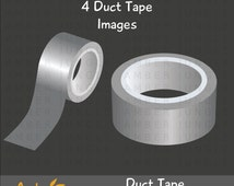 Duct Tape Roll Clipart - Instant Download! Duck Tape Clip Art Grey Gray Digital Graphics Images for DIY Planner Stickers Crafts Scrapbooking