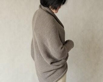Warm knitted shrug