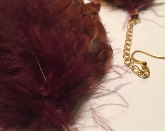 Fancy Feathers With Gold Chairn
