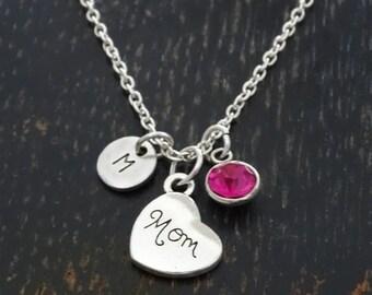 Mom Necklace, Mom Charm, Mom Pendant, Mom Jewelry, Mother Necklace, Mommy Necklace, Mother Jewelry, Mommy Jewelry, Mom Birthday, Mom Gifts