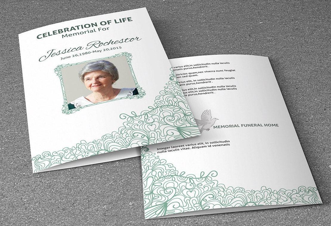 printable funeral program template memorial program