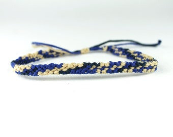 Beige And Blue Friendship Bracelet