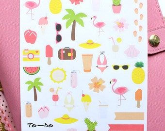 """Planners Stickers """"Tropical Summer"""""""