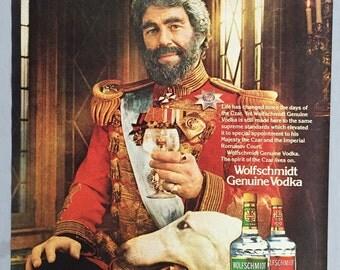 1980, 1981 Lot of 2 Wolfschmidt Vodka Print Ads - Czar