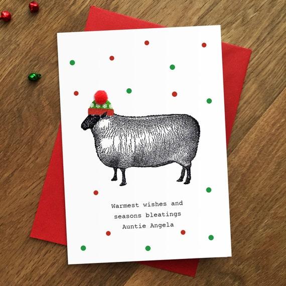 Sale funny sheep christmas card animal lover farm farmer