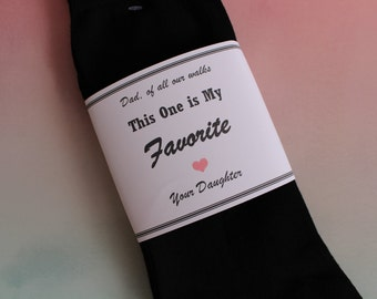 Socks WRAPPER: Dad of all our walks this one is my favorite, Cardstock Label only, Socks are NOT included. father of the bride gift, LB4X