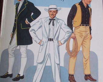 "1986 ""Clark Gable Paper Dolls in Full Color"" Tom Tierney Book."