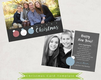 Year In Review Christmas Card Photoshop Template