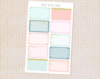 Half box stickers - Bloom collection /  10 matte functional planner stickers