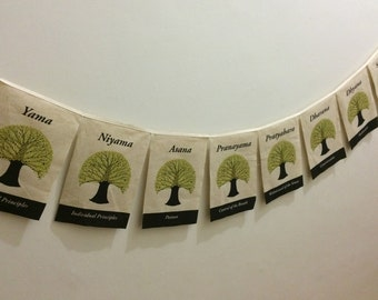 The Eight Limbs of Yoga Prayer Flag
