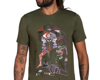 Men's T-shirt-Fractal T shirt-Dmt shirt-Consciousness-Men's Graphic Tee-art Tshirt-Visionary T shirt- Psychedelic shirt-Geometric T shirt