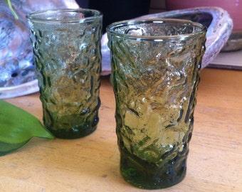 "Anchor Hocking (Set of 2) Juice Glasses 4 oz - ""Milano Lido"" Green"