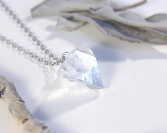 Apophyllite Crystal Pendant - Helps with spiritual connection and is good for deep meditation.