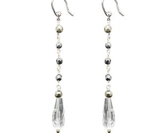 Crystal rosary earrings