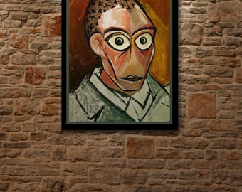 PICASSO PIKASSA - Picasso painting expressionism Art poster limited edition of 5 digital prints signed & numered.
