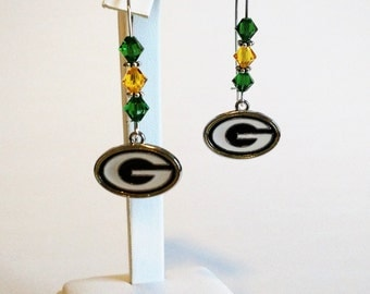 Line of Scrimmage Green Bay Packers Earrings