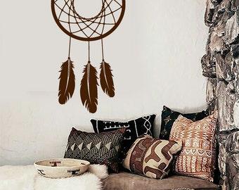 Wall Vinyl Decal Bedroom Decor Dream Catcher Dreamcatcher Lakota Snare Modern Ethnic Home Decor (#1079dz)
