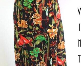 "Vintage 1970s Floral Maxi Dress Boho Festival UK 10 EU 38 US 8 Bust 36"" 92cm"