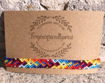 Intertwined Rainbow Friendship Bracelet