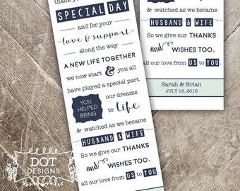 Wedding Favor Bookmark - Custom Digital Print