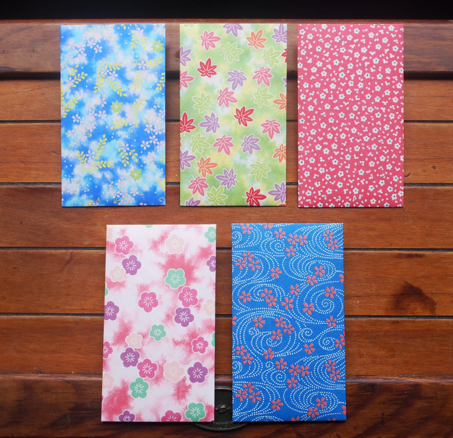Floral print origami money envelopes voucher holders gift - photo#27