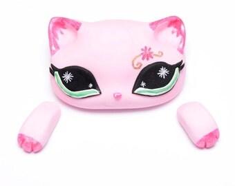 Fondant Littlest Pet Shop Pink Kitty (LPS) Cake Topper