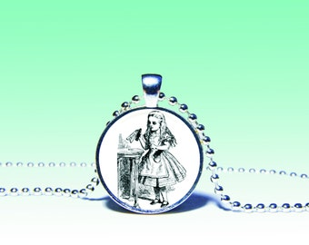 Alice in Wonderland Necklace, Alice pendant, alice necklace, Alice in Wonderland Charm Wonderland Pendant Alice Charm. Lewis Carroll Gift