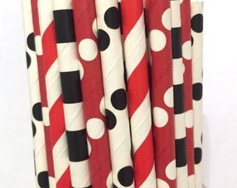 2.85 US Shipping -Pirate inspired paper straws - cake pop sticks - drinking straws
