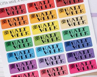 Planner Stickers Half Week Spread Reminder for Erin Condren, Happy Planner, Filofax, Scrapbooking