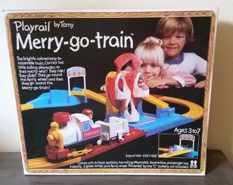 Playrail Merry-go-train by Tomy 1976 Brand New Collectible