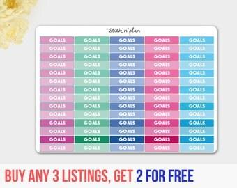 Goals Stickers, Goal Reminder Stickers, Bar Stickers,  Week Goals Stickers, Target Stickers