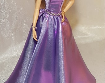 Lilac evening gown for Silkstone Barbie and other fashion dolls