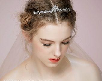 Rhinestone Tiara, Wedding hair accesories, Wedding tiara, bridal headband, wedding headband