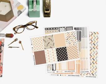 October Planner Sticker Kit, for Erin Condren Planner, vertical sticker kit, full boxes, sticker sampler, October weekly planner kit