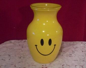 Yellow Smiley, Happy Vase