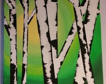 Green Birch Horizon
