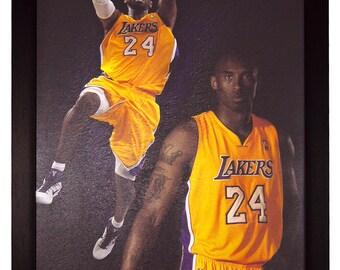 Kobe Bryant Los Angeles Lakers 24 NBA Basketball 22x34 Framed Poster