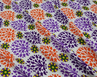 White Rayon Fabric Decorative Floral Fabric For Sewing Designer Dressmaking Material Indian Craft Floral Print Rayon Fabric By 1 Yard ZBR156