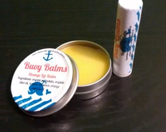 Orange Lip Balm, 1 oz Tin