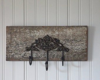 Decorative Wall Hook, barnwood decor, country decor, cottage chic, vintage, rustic