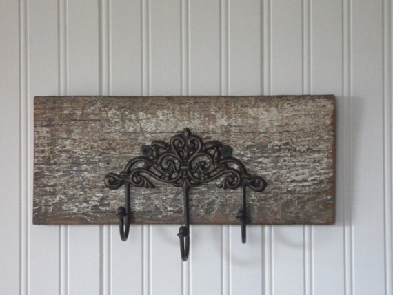 Rustic French Wall Decor : Decorative wall hook barnwood decor country french