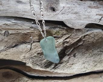 Light Blue Beach Glass Necklace
