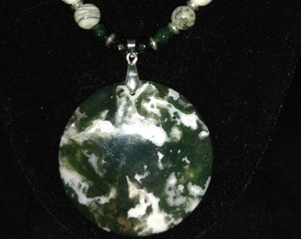 Beautiful Moss Agate Necklace
