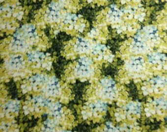 ON SALE:  Yellow/Blue Hydrangeas, Marche de Fleurs by Lisa Audit for Wilmington Prints, 100% Cotton