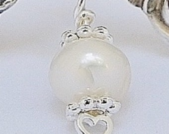 Add On: Cultured White Freshwater Pearl Charm To Add Onto Your Honeyspooners Bracelet Order-June Birthstone
