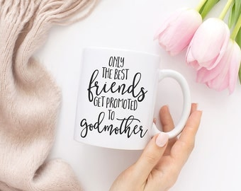Only the best friends get promoted to godmother, Godmother gift, Baptism gift, Confirmation gift, Baptism gifts for godparents, MC132