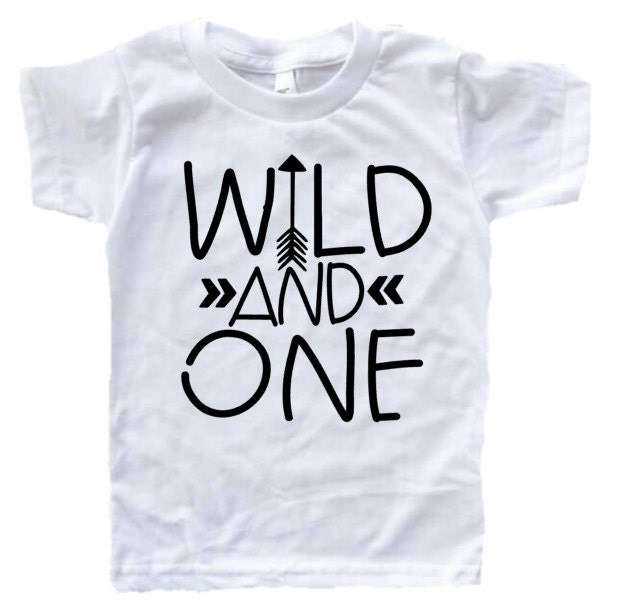 Wild And One First Birthday Shirt Girl ONE Arrow 1st Outfit Tribal Boy E10190947033282971M