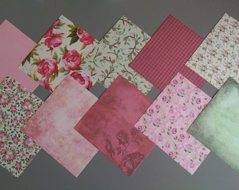 30 Sheets Paper Stack Cardstock Scrapbooking Craft Paper Assorted Patterns